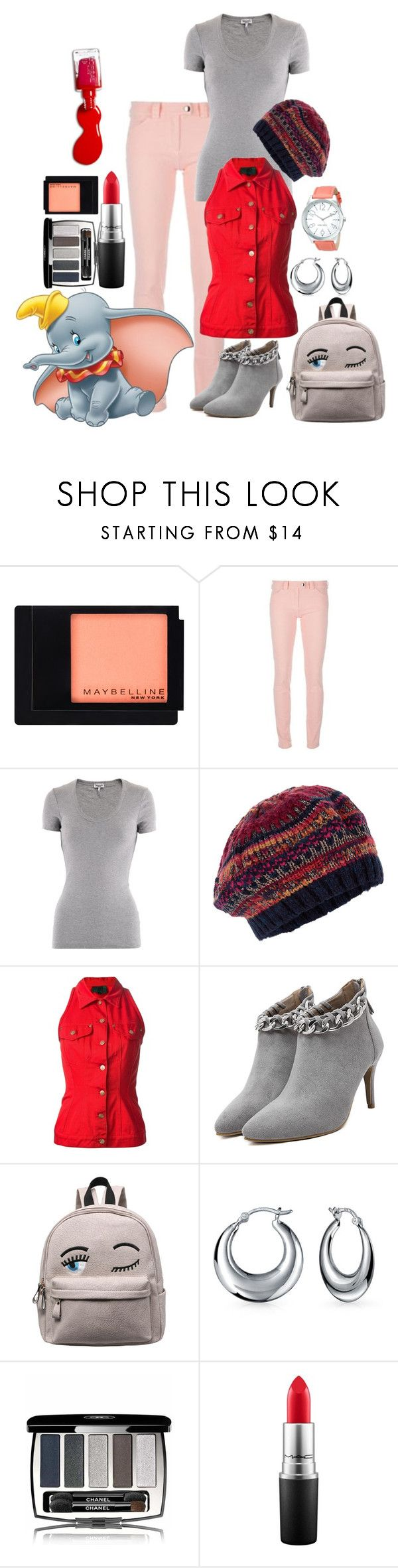 """""""Dumbo set"""" by dprice15 ❤ liked on Polyvore featuring Maybelline, Balenciaga, Splendid, Accessorize, Jean-Paul Gaultier, Bling Jewelry, Chanel, MAC Cosmetics, L'Oréal Paris and Nine West"""