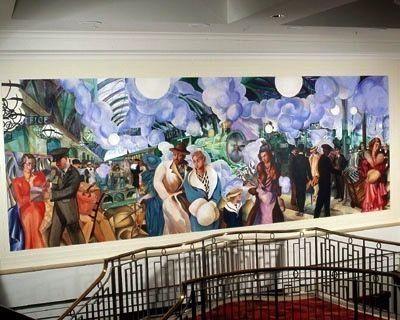 Paddington Hilton, staircase mural.