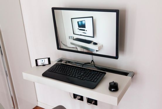 Best 25 floating wall desk ideas on pinterest floating for Build your own wall mounted desk