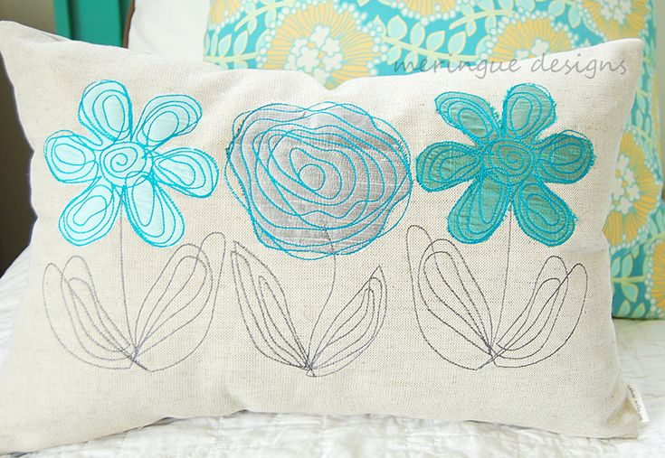 Scribbled Daisy Machine Embroidery Designs by meringuedesigns