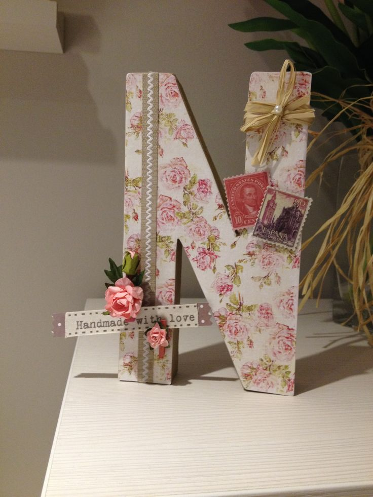 17 best images about decorar letras on pinterest manualidades home decor and wedding initials - Letras para decorar ...