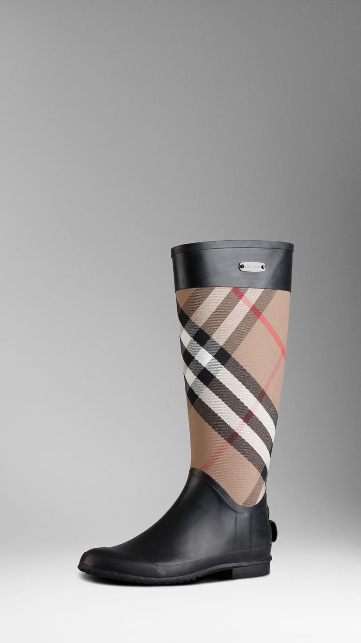 Check Panel Rainboots | Burberry