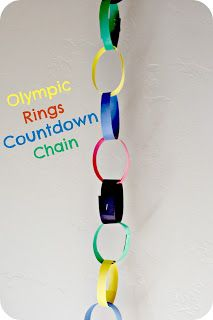 Start on the 6th of February and take one off each day until the closing ceremonies on the 23rd.  Olympic Countdown Chain!