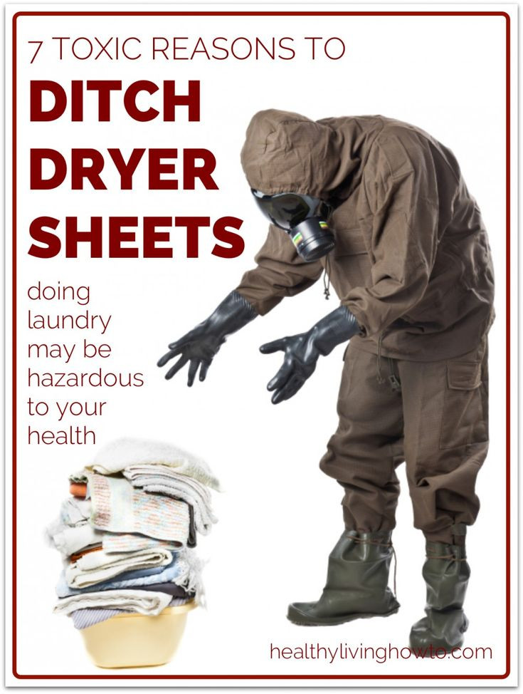 7 Toxic Reasons to Ditch Dryer Sheets | healthylivinghowto.com(This doesn't even go into the chemical fragrance in dryer sheets that is an endocrine disruptor causing hormone problems!)