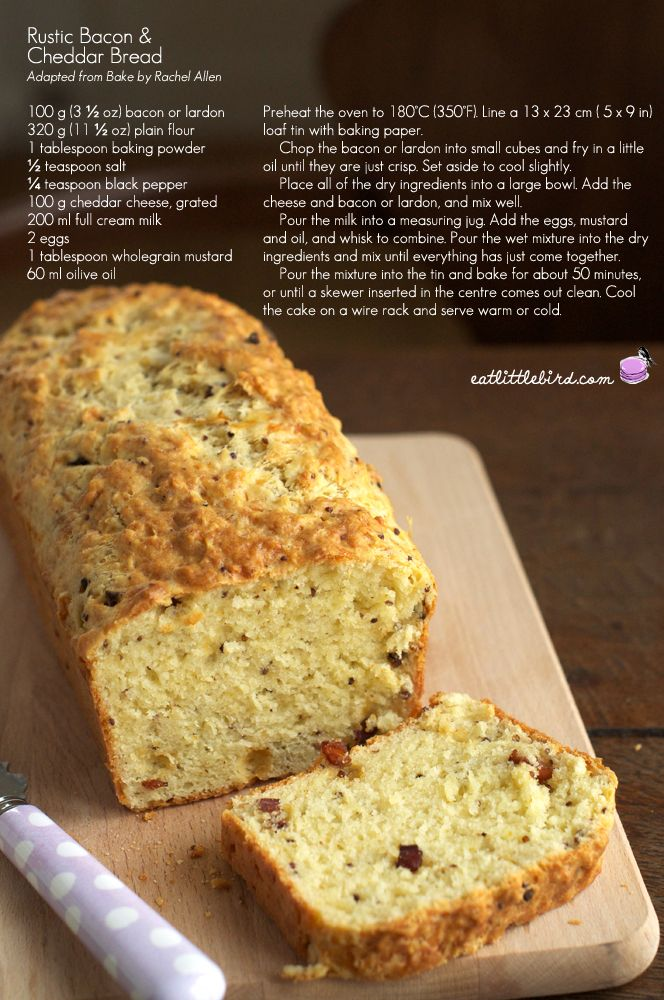 ... Bacon Cheddar Bread recipe (easy,quick bread). #Bread #Cheddar #Bacon