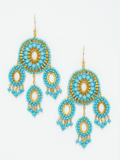 Miguel Ases Miguel Ases - Turquoise CHANDELIER EARRINGS