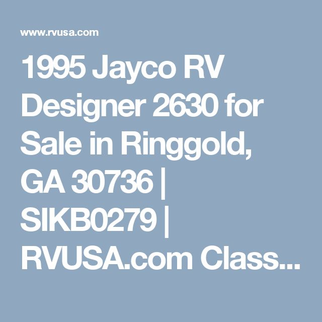 Best 25 jayco rv ideas on pinterest rv windows camper hacks 1995 jayco rv designer 2630 for sale in ringgold ga 30736 sikb0279 rvusa sciox Gallery