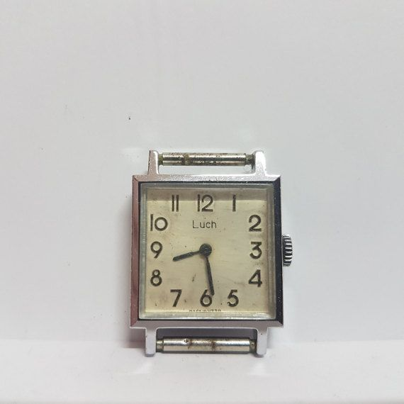 Luch mechanical - Ladies' square case watch – Classic vintage watch woman – Antimagnetic Watch – gift for her USSR - SALE 33% OFF - 1970s