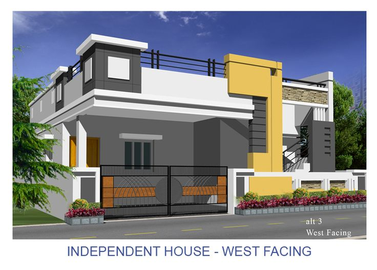 Resultado de imagen de elevations of independent houses for Indian house front elevation photos for single house