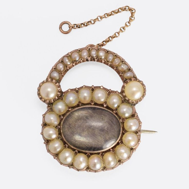 Georgian Pearl Padlock Locket Brooch                      – Butter Lane Antiques