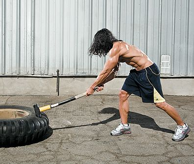 Train your whole body with just a sledgehammer and a tractor tire