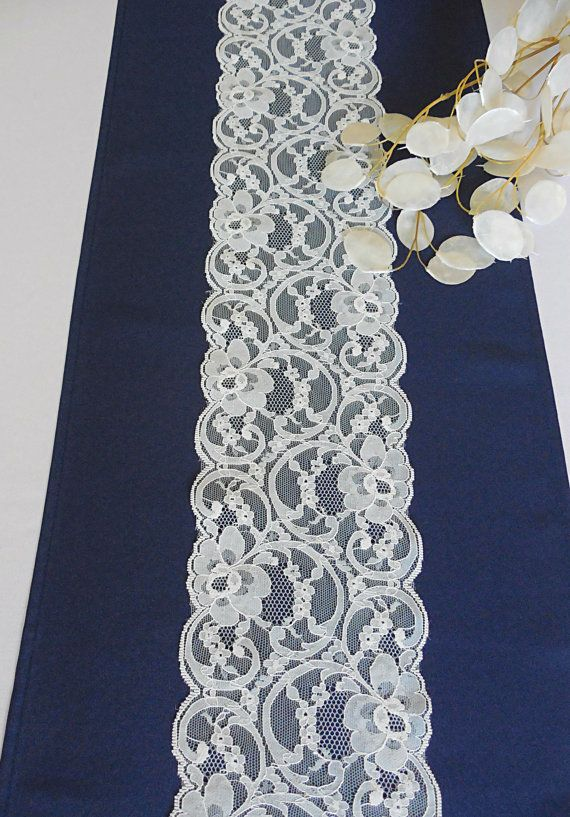 Just by adding a little accent to your event table, can make everything shine! This table runner is a navy blue color, poplin fabric, with a