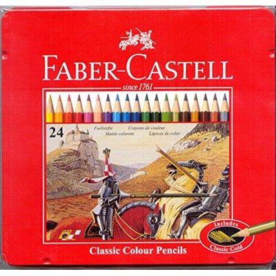 Chollo en Amazon España: Estuche de metal con 24 ecolápices Faber Castell por solo 9,08€ (un 25% de descuento del PVR y precio mínimo histórico)