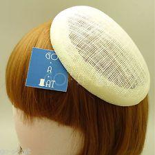 15 см DIY синамей простоя дамских шляп основание костюм вечеринки берет вуалей шляпа цвета слоновой кости