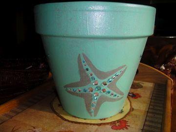 Beach Themed Pot Clay Pots Pinterest Flower Pots