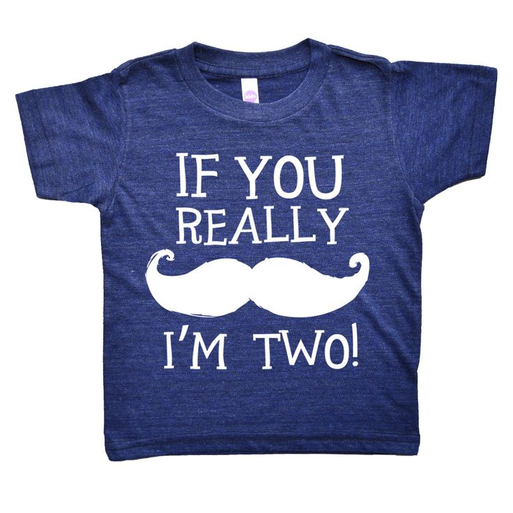 If You Really Mustache I'm Two  Two Year Old by theKidsNextDoor, $20.00