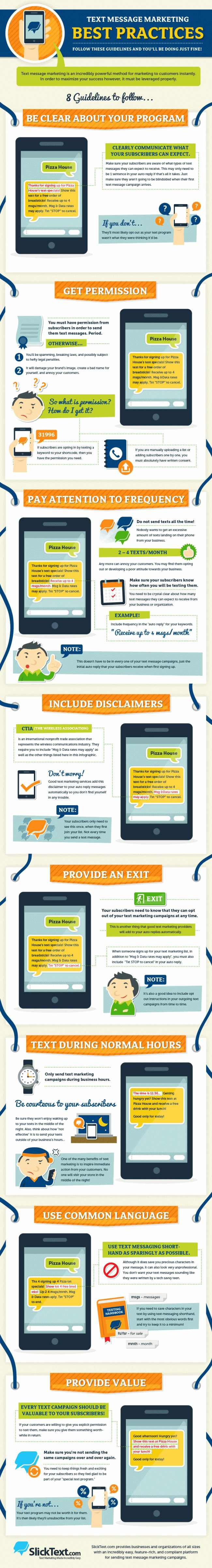 8 best practices for text message marketing #Infographic | via #BornToBeSocial - Pinterest Marketing