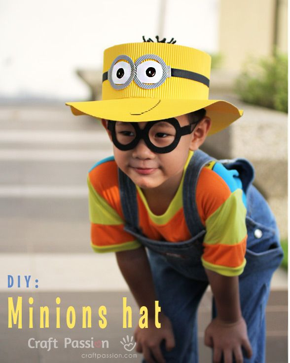 minions hat - this is too adorable (so's the child)