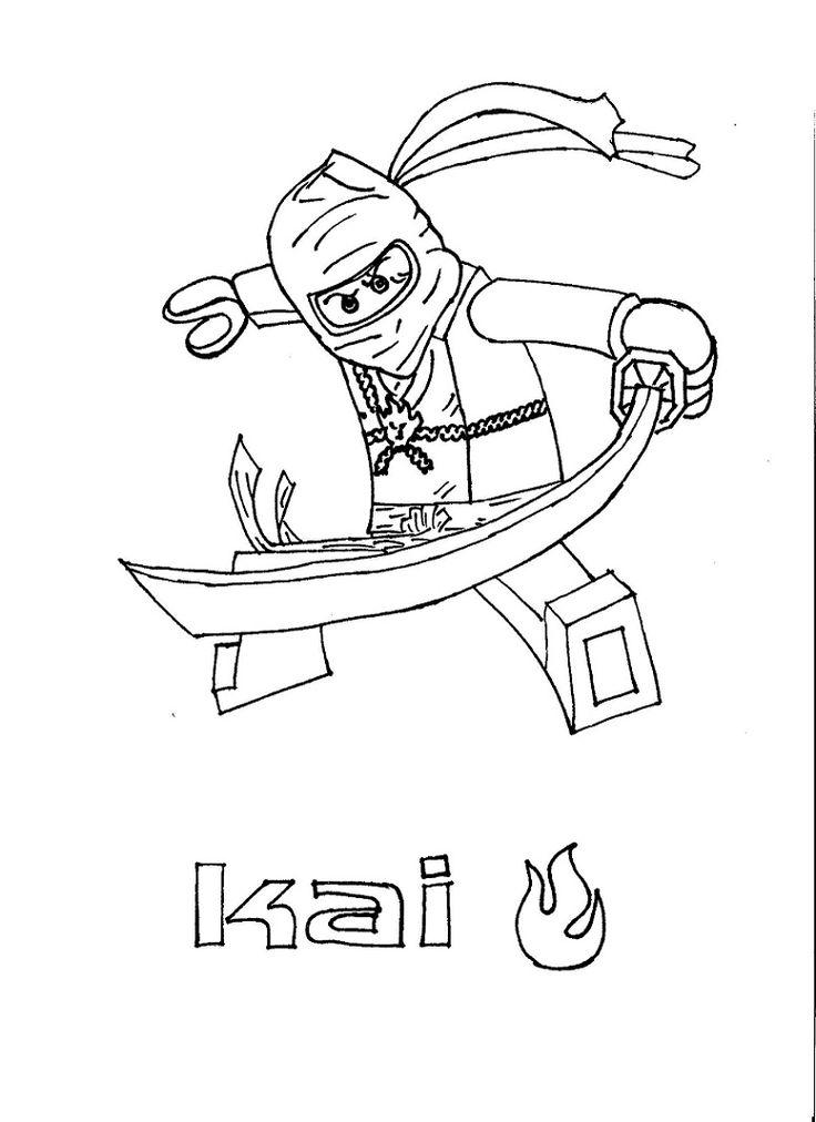 Color pages Ninjago Kai | Ninjago | Pinterest