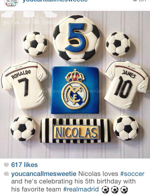 Soccer sugar cookies