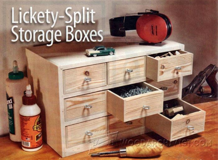 Small Storage Boxes Plans - Workshop Solutions Plans, Tips and Tricks   WoodArchivist.com