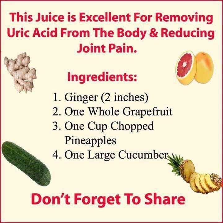 Ankh Rah's Healthy Living Guide: This Juice is Excellent For Removing Uric Acid Fro...