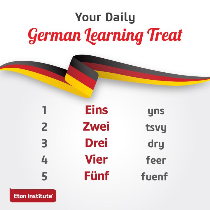 Count your blessings with a twist! Learn the numbers in German.