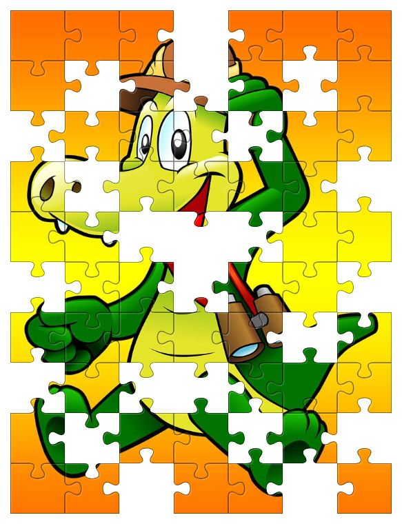 Free Jigsaw Puzzle Online - Cartoon Alligator