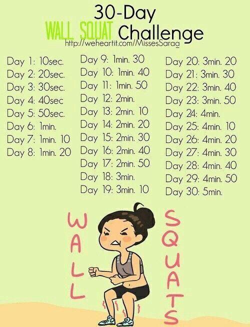 Wall Squat Challenge!