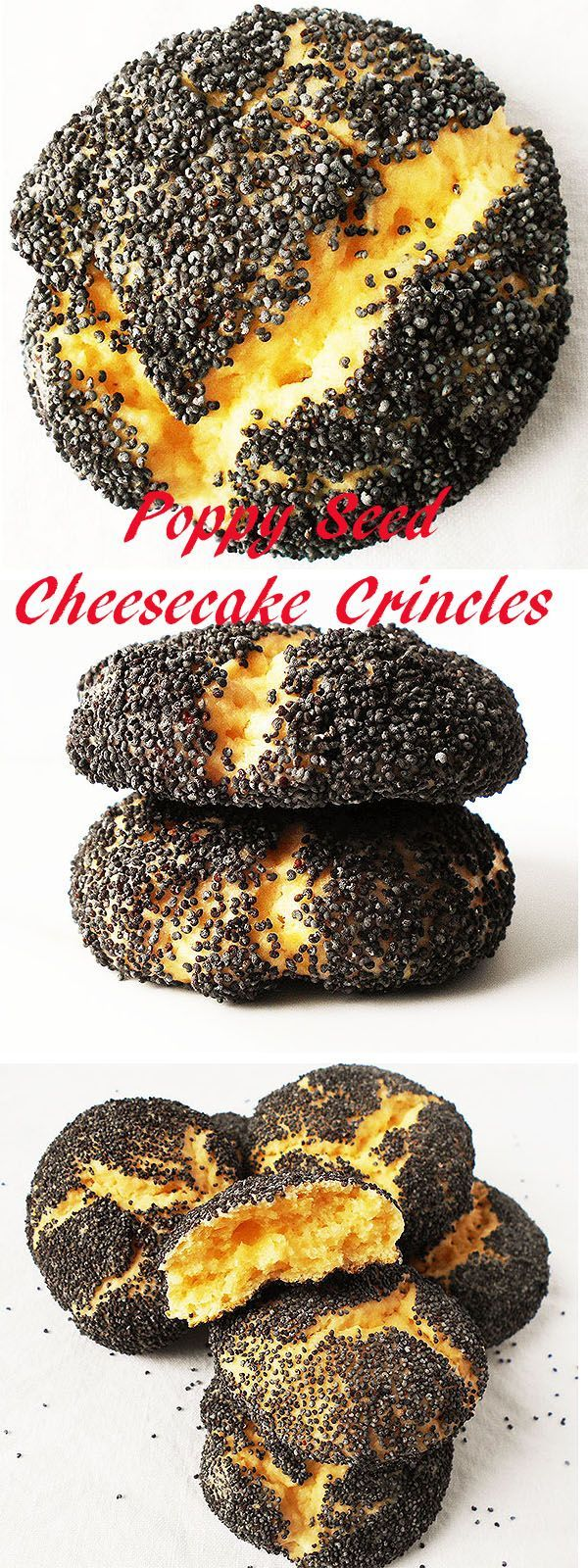 Poppy Seed Cheesecake Crincles:Perfect, tender, attractive, light cheesecake crinkles to enjoy all year round !
