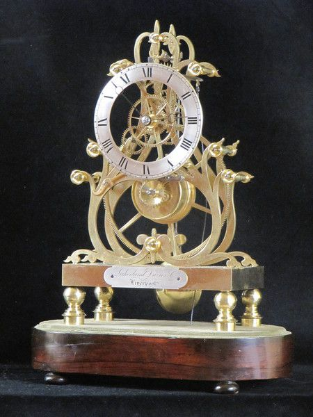 A fine example of one of Condliff''s third series great wheel skeleton clocks (c. 1855 England) Offered by Derval Antiques at www.edenbridgegalleries.com.
