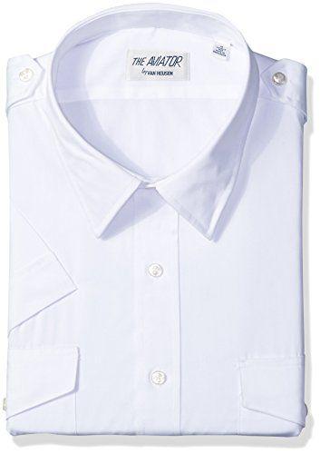 201f0ef714f Van Heusen Mens Dress Shirts Short Sleeve Aviator Shirt Solid Spread Collar   shirts  dress  mensshirt  clothing  fashion  formalshirt