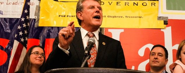 "Gov. C.L ""Butch"" Otter after winning a third term as Idaho's governor (Otto Kitsinger/AP)"