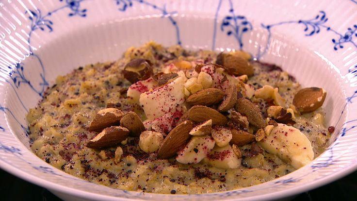 Glutenfri havre-quinoa grød
