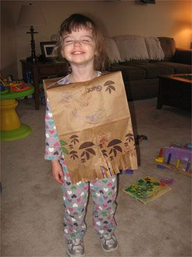 Paper bag or fabric poncho for study of Mexico or Cinco de Mayo