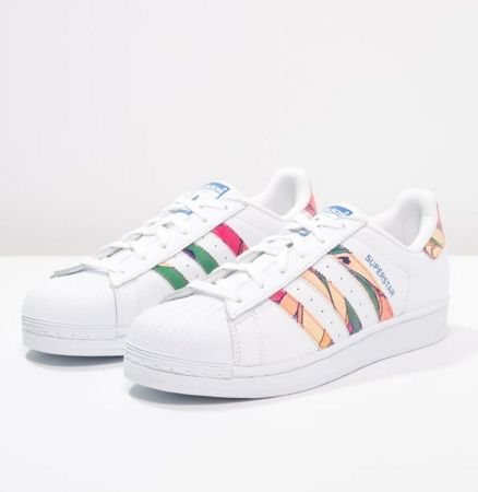 adidas Originals SUPERSTAR Trampki white/lab blue