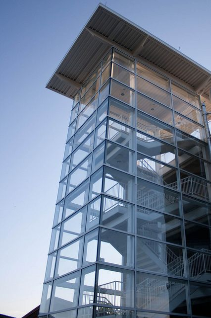 glass enclosed staircase  nofailsafe  flickr exterior stairs architecture stairs