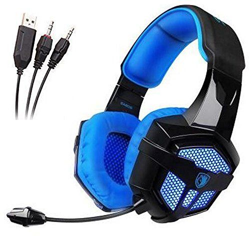 FarCry 5 Gamer  #Sades #SA806 #Professional #Stereo #Gaming #Headset 3.5mm+USB #Blue #Led #Lighting #Computer #Headphones with #Microphone for #Laptop #PC Mac(Black-Blue)   Price:     Package Note:There are two packing way for us from the factory,one is simplified box packing,the other one is bag packing with seal.we use the bag packing here.Tough the package way are different but all the item are NEW ,hope customer can understand and note this message before orderFeatures:SA