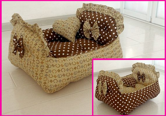 Reversible Handmade Cotton Dog Cat Bed House Sofa от Simplyworld