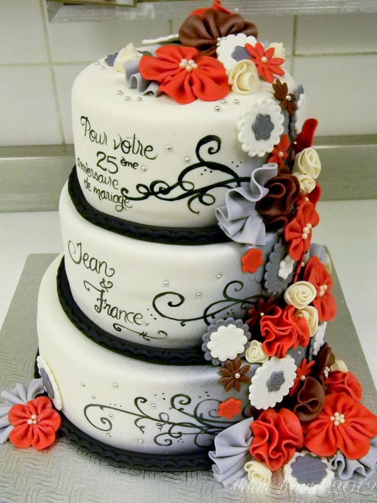 The 25 Best 25th Wedding Anniversary Cakes Ideas On