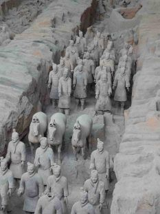 Los guerreros de Terracota, el mayor tesoro de la provincia china de Xian.