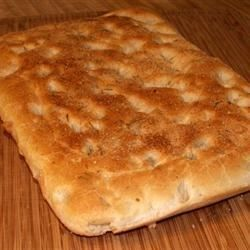 Make your own herb focaccia with dough mixed in the bread machine.