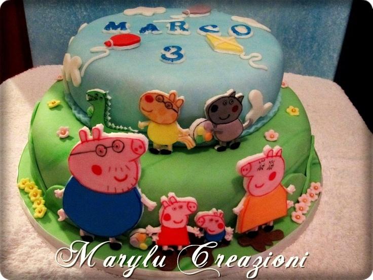 Torta Peppa Pig numero 2