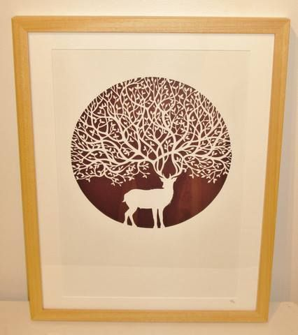 The Stag - original papercut by PaperPandaCuts on DeviantArt