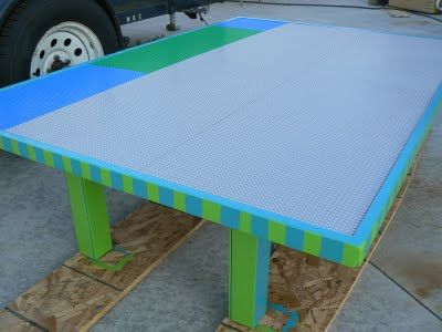Build a lego table for the kids to build larger stuff on.
