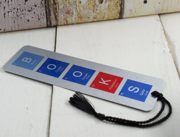 Perodic table Bookmark - Customisable by TheCuriousCapybara on Etsy