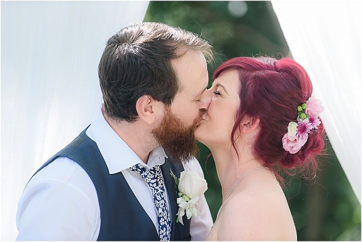 Gorgeous #cherry red hair! #firstkiss #bride&groom #weddingceremony