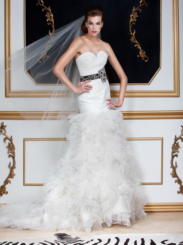 Organza Ruffle Wedding Gown, Style 5599