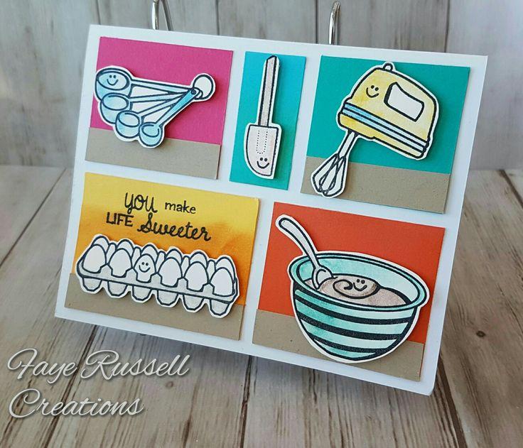 Stampin Up Perfect Mix, handmade card, baking