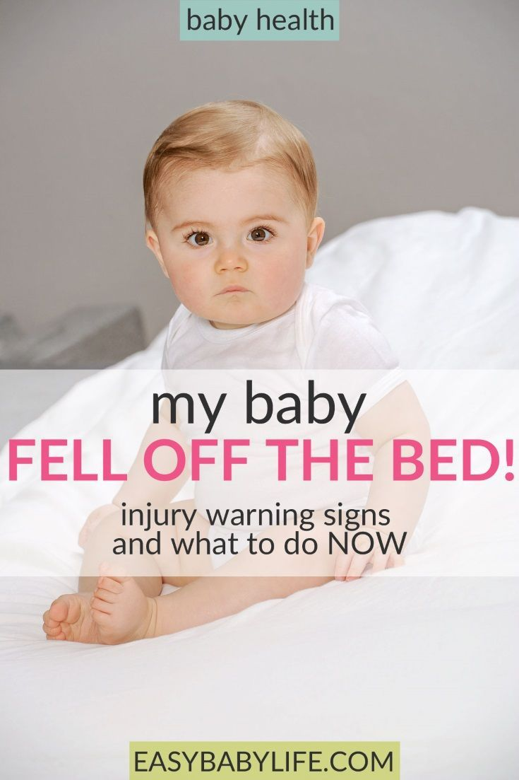 What if a baby fell off the bed!? Heartbreaking and scary. Here's what to do, what injury warning signs to look for and many parents sharing their story. Baby fell, baby fell and hit head, baby falls off bed, concussion symptoms, baby care, injured baby, baby injuries #baby